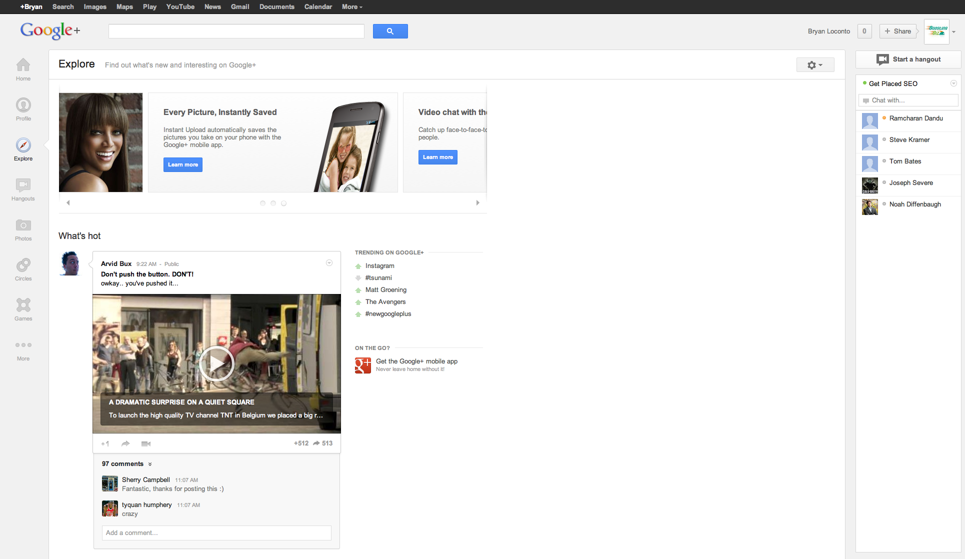 Google + New Layout